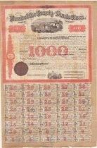 Image of Western Pacific Railroad bond - 1865