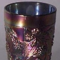 Image of Fenton Art Glass Company  No. 1012 Floral and Grape tumbler