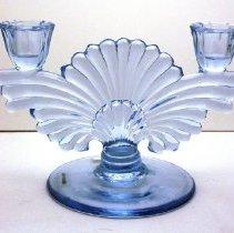 Image of Paden City Glass Manufacturing Company No. 221 Maya 2-light candlestick