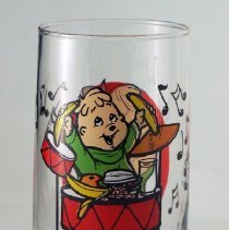 Image of Libbey Glass Company Chipmunks tumbler.