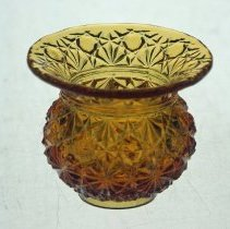 Image of Central Glass Works Daisy and Button kettle-shaped toothpick holder