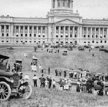 Image of Plane Lands at Rear of New Capitol - 2003.13.61