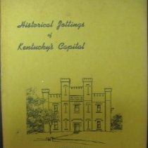 Image of Historical Jottings of Kentucky's Capital - Sara Prewitt Olcott