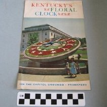 Image of Kentucky's Floral Clock & capitol grounds visitors guide booklet -
