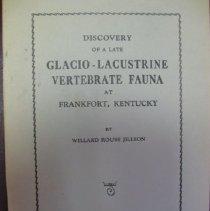 Image of Discovery of a Late Glacio-Lacustrine Webterbrate Fauna at Frankfort, Kentucky - Willard Rouse Jillson