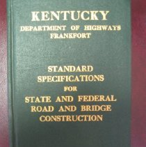 Image of Standard Specifications for State and Federal Road and Bridge Construction - Kentucky Department of Highways