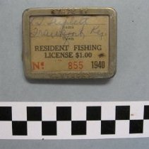 Image of L. T. Triplett's 1940 fishing license - License, Sporting