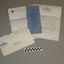 Image of Inauguration Dinner Invitation  Collins 1983 - Invitation