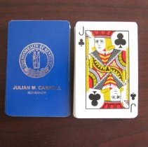 Image of Commemorative deck of Carroll Governor playing cards - Deck, Card