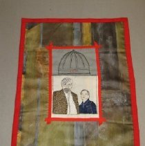 Image of small wall hanging of Nicky and Russ in needlepoint - Needlepoint