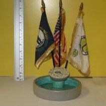 Image of Ceramic Flora Clock Desk Flag set - Set, Desk