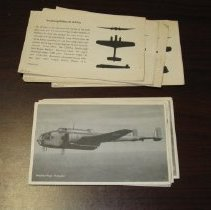 Image of WWII Military Aircraft ID Cards  - Card, Flash