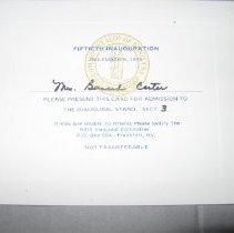 Image of Fiftieth Inauguration Ticket - Ticket