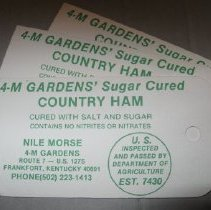 Image of 4-M Gardens Country Ham Tag - Tag, Merchandise