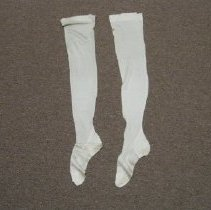 Image of White Silk Stockings - Stocking