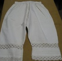 Image of White Linen Pantaloons - Pantaloons
