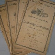 Image of Set of 5 Ledgers from Commercial College of Kentucky University - Ledger