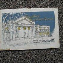 Image of Frankfort Christian Church Dedicatory Service Program - Program