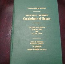 Image of Biennial Report: Commissioner of Finance, KY 1949 -
