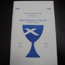 Image of First Christian Church 100th Anniversary - Program