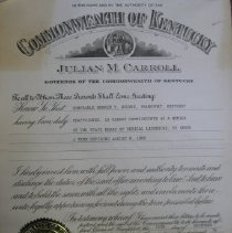 Image of Gubernatorial Appointment Certificate - Certificate