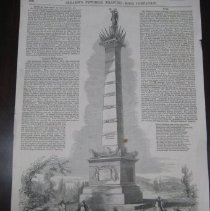 Image of Military Monument at Frankfort from Gleason's Drawing Room Companion - Poster