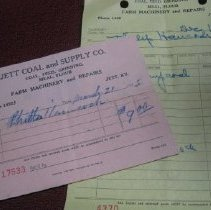 Image of Jett Coal and Supply Co. Receipts - Receipt