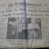 Image of Kennedy Assassination Newspapers - Newspaper