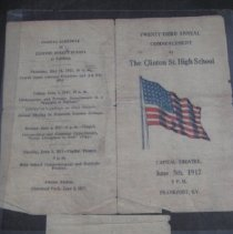 Image of Clinton Street High School Commencement Program - Program