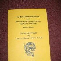 Image of Clinton Street and Mayo-Underwood High Schools Reunion Program - Program
