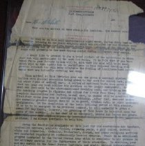 Image of Letter to Mrs. Mitchell from Ft. Knox Training Facility - Letter