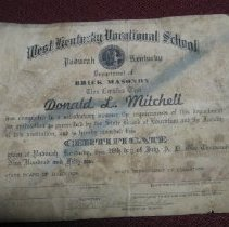 Image of Donald Mitchell's Vocational School Certificate - Diploma