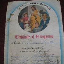 Image of Vacation Bible School Certificate - Certificate