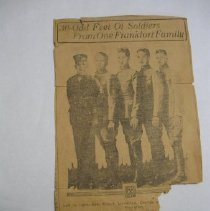 Image of Five Marshall Boys Go to War - Clipping, Newspaper