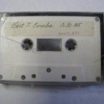 Image of Bert Combs Audio Cassette - Tape, Audio Reel