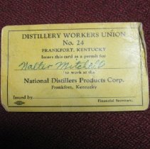 Image of Distillery Workers Union Card & State Employment Card - Card, Union