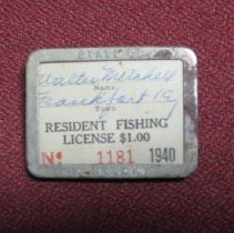 Image of Fishing License Badge - License, Sporting