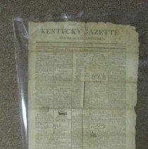 Image of Kentucky Gazette newspaper - Newspaper