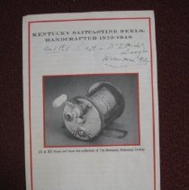 Image of Kentucky Baitcasting Reels: Handcrafter 1813-1948 - Pamphlet