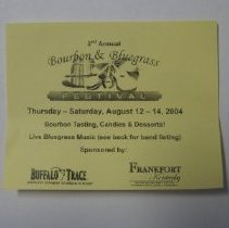 Image of Bourbon & Bluegrass Promotional Card - Card, Advertising