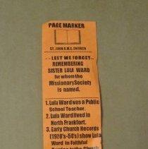 Image of Lula Ward Bookmark - Bookmark