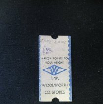 Image of Woolworth's Fortune & Weight Card - Card, Game