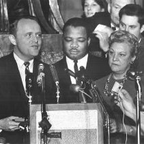 Image of Governor Breathitt and Thelma Stovall at Civil Rights Bill Program - 2013.54.125