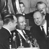 Image of Governor Breathitt at Civil Rights Bill Ceremony - 2013.54.126
