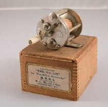 Image of B. C. Milam & Son Reel With Box - Reel, Bait Casting