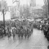 Image of Military Parade on Main Street in 1918 - 2003.98.14