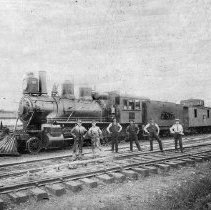 Image of Train #785 with Engineers - 2003.98.32