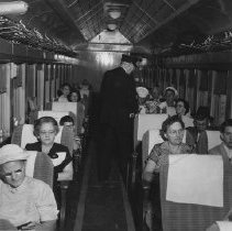 Image of Last L&N Passenger Train through Frankfort, interior coach scene - 2003.100.2