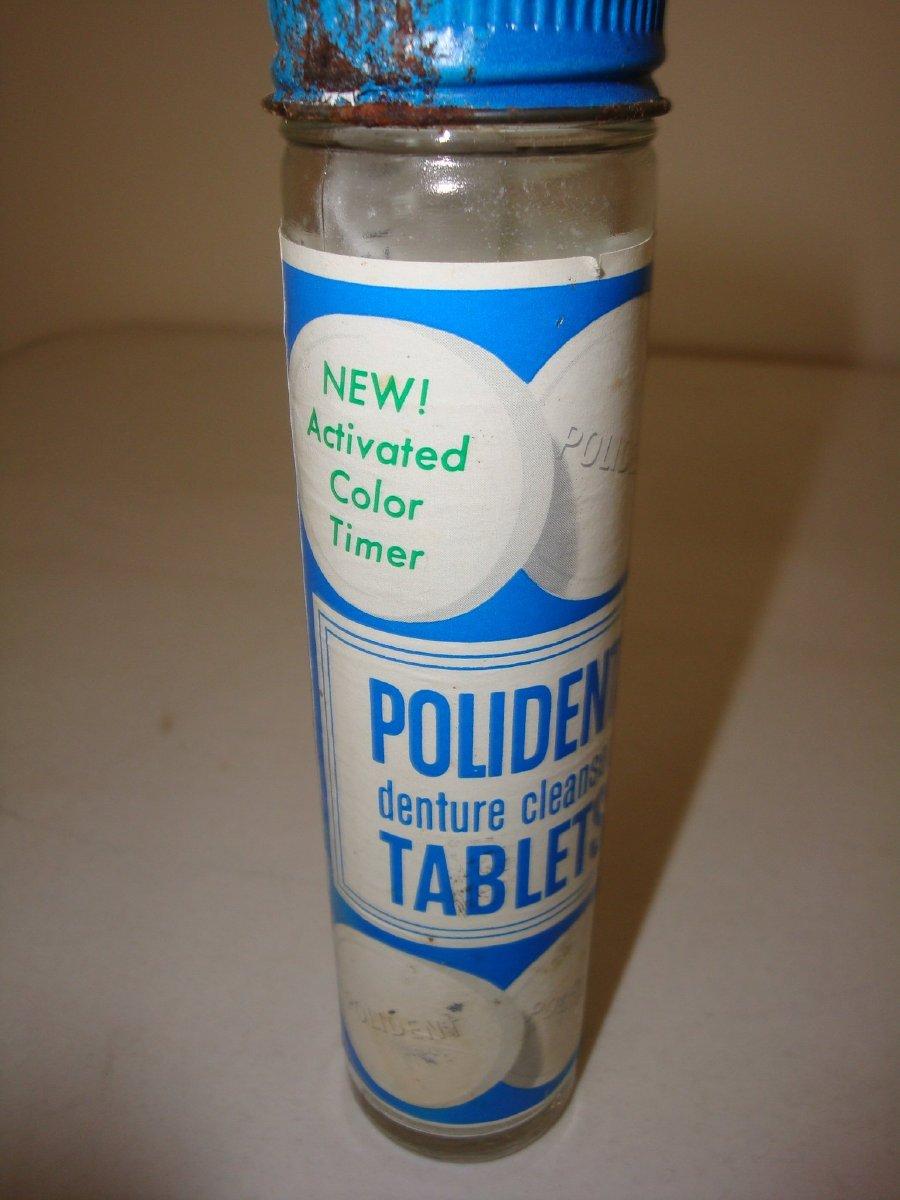 Polident bottle