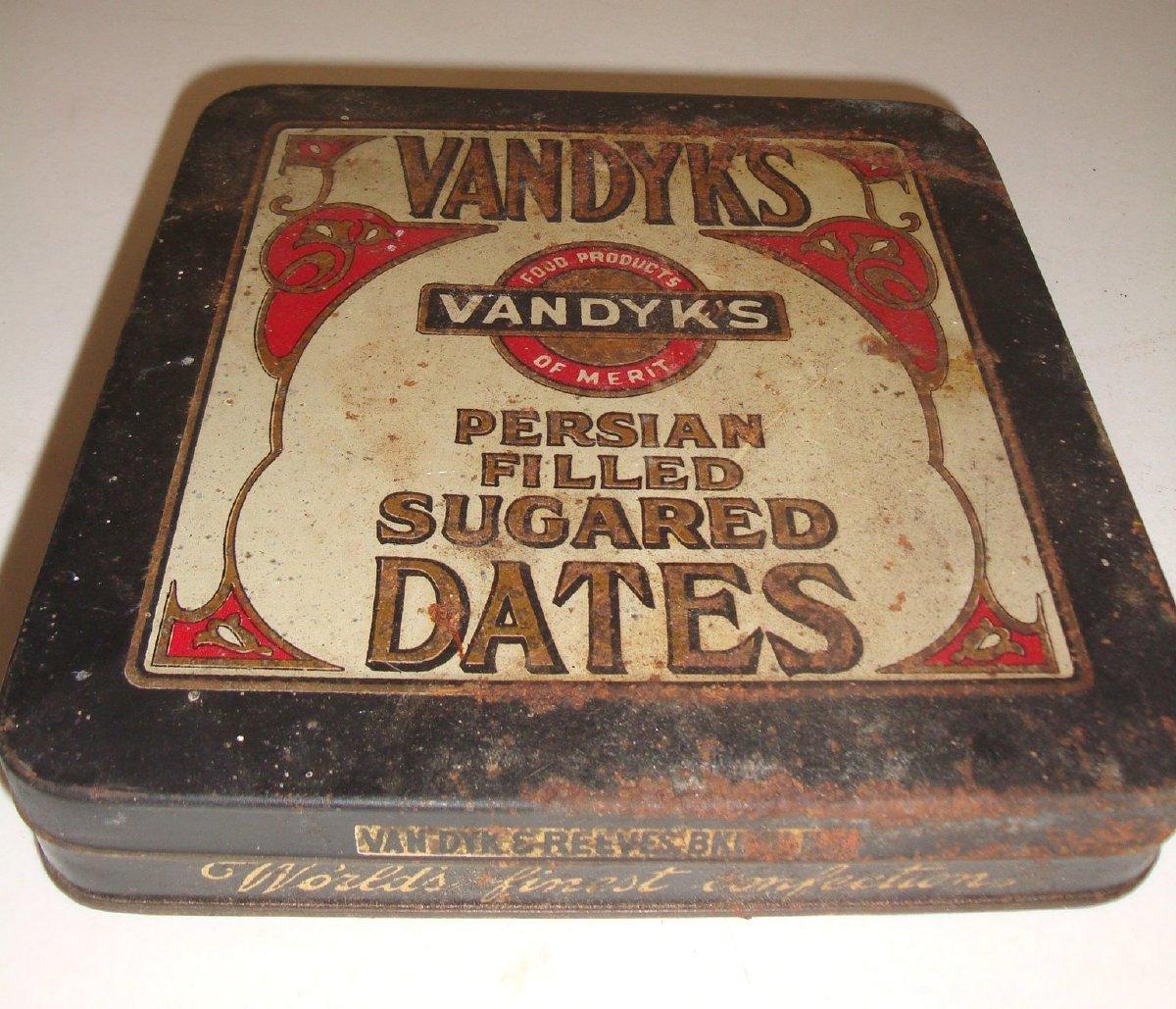 Sugared dates tin
